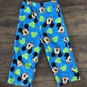 Mickey Mouse Fleece Pajama Bottoms Size 4T